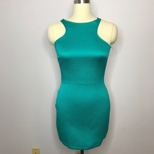 MNG Casual Turquoise Mini Dress